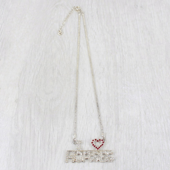 I Love Horses Necklace