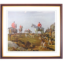 Hunting On Zenor Hill Framed Print