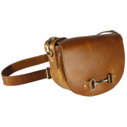Haston Bag In Tan Leather With Suede