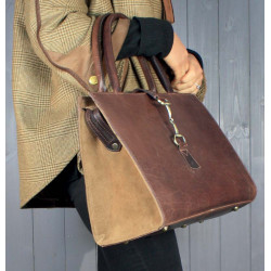 Alice Bag In Brown Leather-Suede