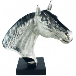 Champion Horse Head Bust In Aluminium Nickel