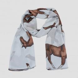 Scarf Horse Light Grey