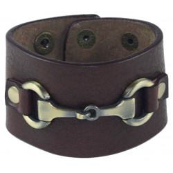 Ella Snaffle Bracelet Brown Was £25