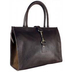 Alice Bag Fine Leather and Suede Brown