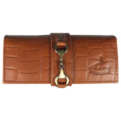 Kate Purse In Dark Tan Crocodile