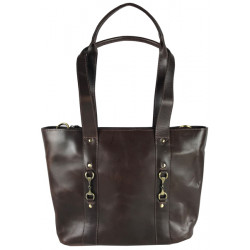 Jessica Tote Handbag Natural Leather Brown
