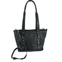 Jessica Tote Bag Fine Leather Black Was £155