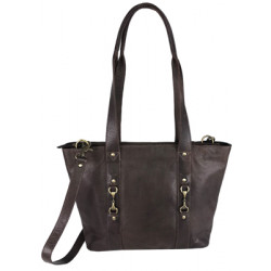 Jessica Tote Bag Fine Leather Brown