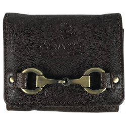 Jodie Compact Purse Fine Leather Brown