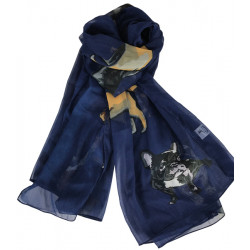 Scarf Dogs Navy