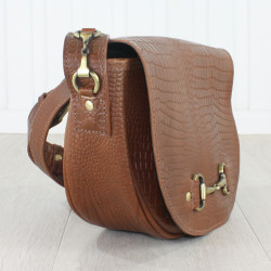 Haston Bag In Natural Leather Croc