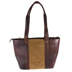 Jessica Bag Buffalo Leather and Suede Brown