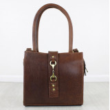 Mini Alice Handbag Leather and Suede Brown