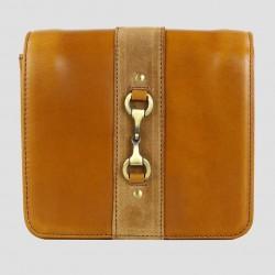 Julia Side Bag Natural Leather Suede Tan