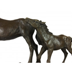 Bronze Horse And Foal Sculpture Was £695