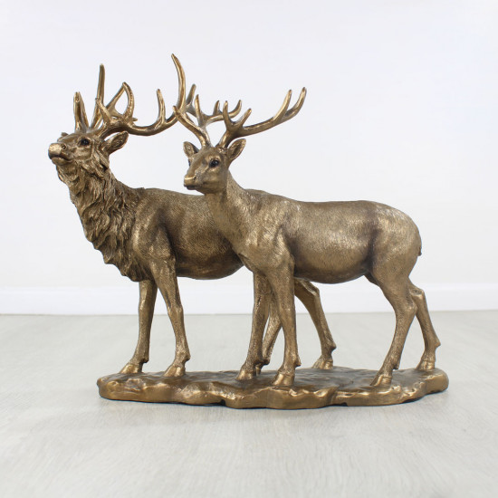 Bronzed Stag And Deer