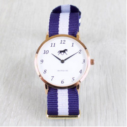 Grays Horse Watch With Blue Strap