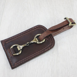 Luggage Tag With Snaffle Brown