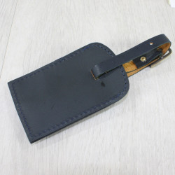 Luggage Tag With Snaffle Navy