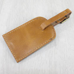 Luggage Tag With Snaffle Antique Tan