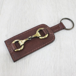 Keyring With Snaffle Brown