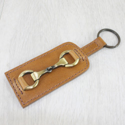 Keyring With Snaffle Antique Tan