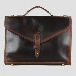 Adam 1922 Brief Case Natural Leather Brown