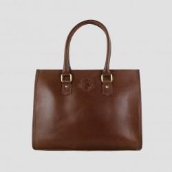 Abigail Equine Handbag In Dark Brown