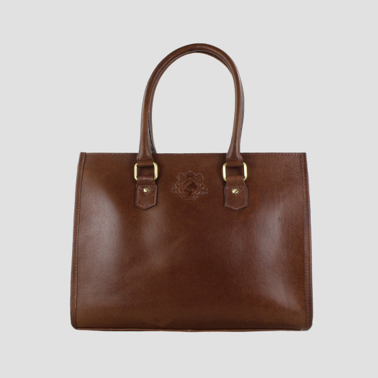 Abigail Equine Handbag In Dark Brown