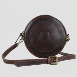 Megan Crest Handbag In Natural Leather Brown