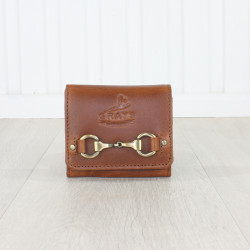 Jodie Compact Purse Dark Tan