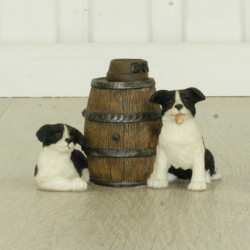 Border Collies With Barrel