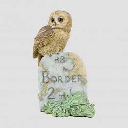 Tawny Owl On Milestone
