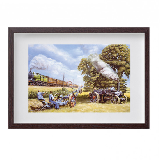 Steam Plough Framed Print